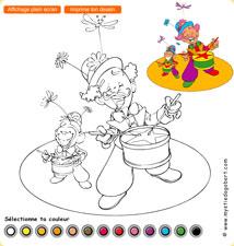 Coloriage clowns - Mystie et Dagobert en Allemagne, jeu gratuit