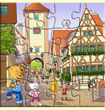 Puzzle 16 pièces, jeu gratuit